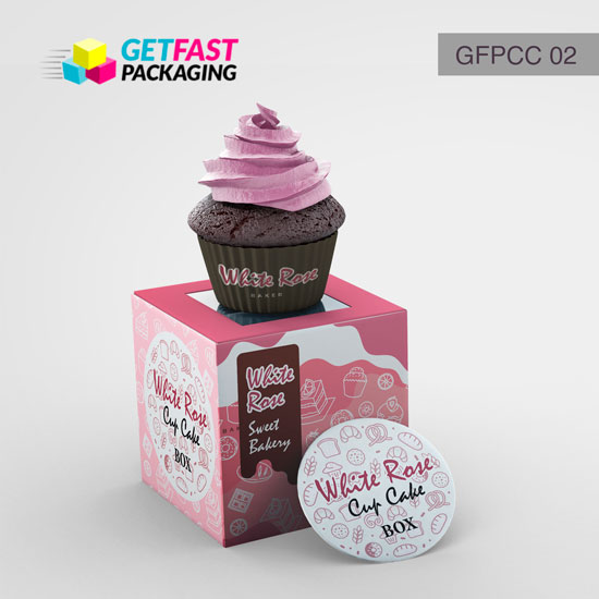 Custom Printed Cupcake Boxes Wholesale