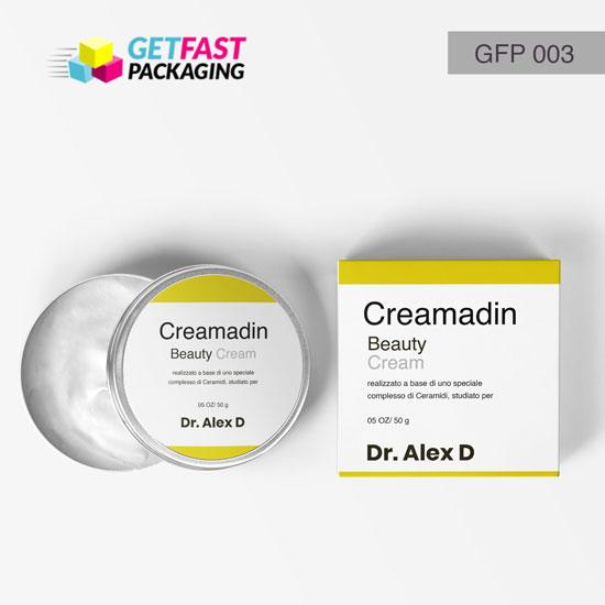 Custom Printed Cream Boxes Wholesale