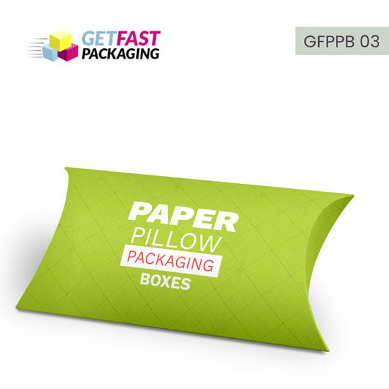 wholesale custom printed pillow boxes